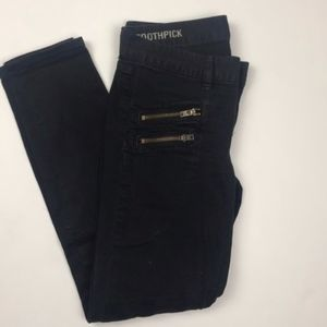 J. Crew Toothpick Ankle Jeans (Black) Size 24